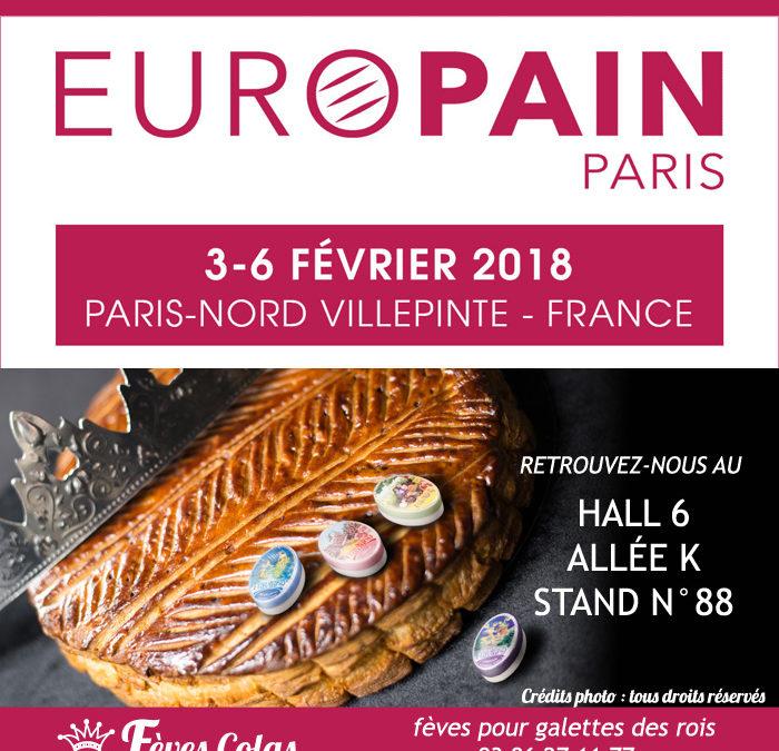 Les Fèves Colas Clamecy s'exposent au salon Europain à Paris
