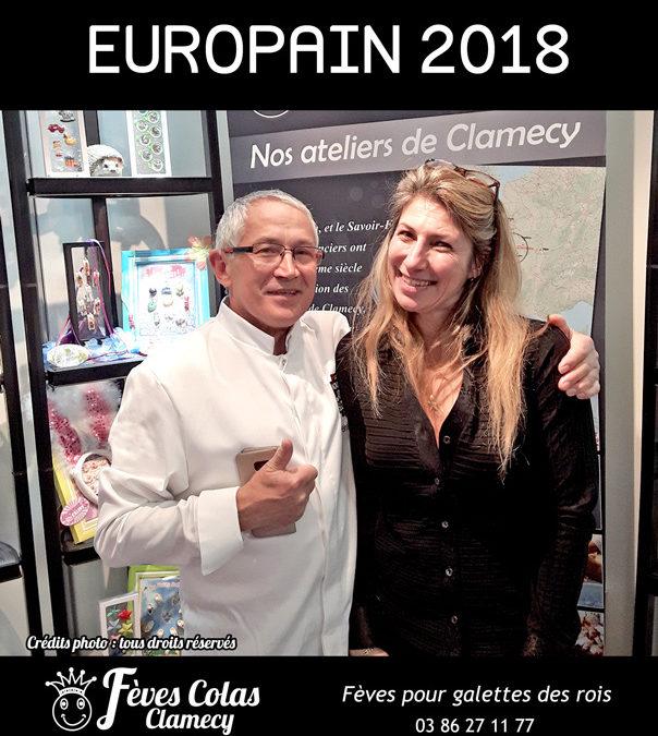 Retour en Image –  salon Europain – Gerard Barsé sur le stand des Fèves Colas Clamecy