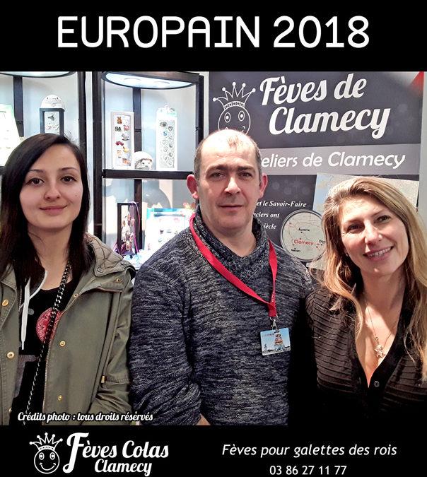 Retour en Image –  salon Europain – le Président de la Fédération des Artisans Boulangers Pâtissiers du Centre-Val de Loire  sur le stand des Fèves Colas Clamecy