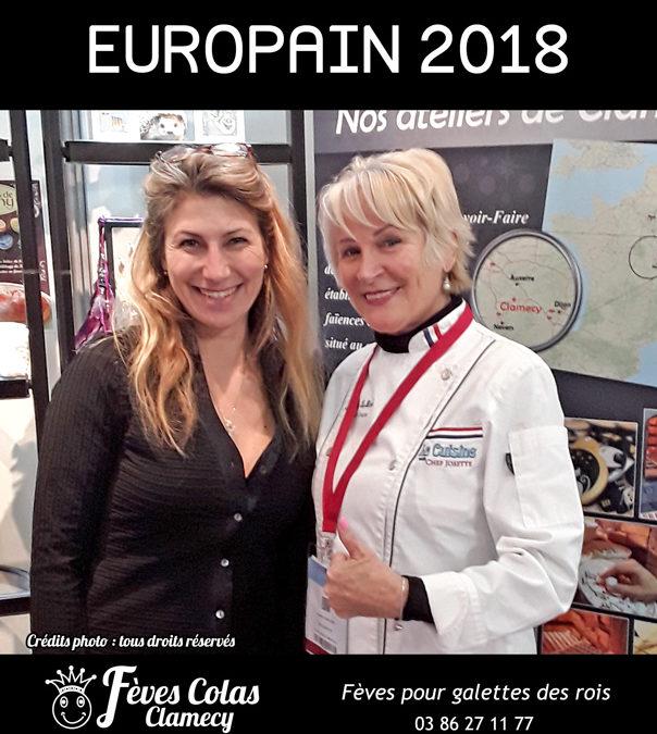 Retour en Image –  salon Europain – Chef Josette sur le stand des Fèves Colas Clamecy