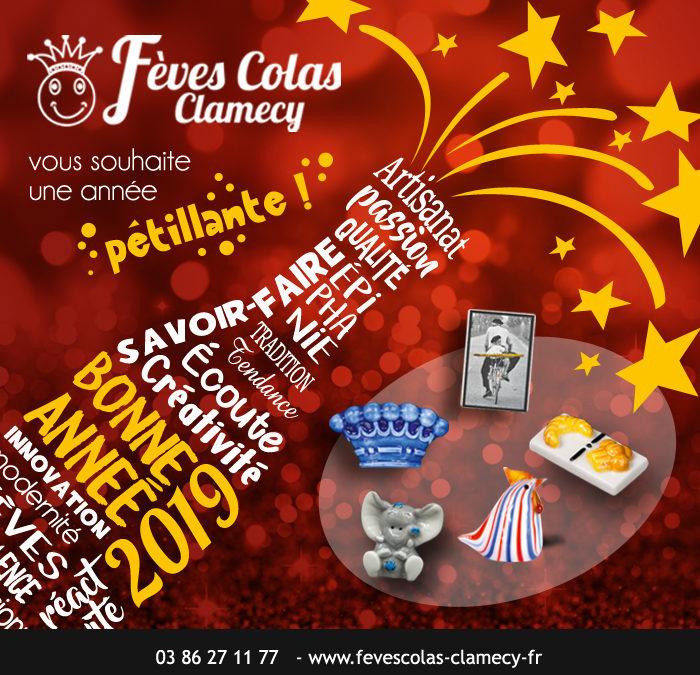 Bonne Année 2019 avec les Fèves Colas Clamecy
